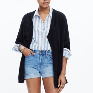 Madewell Seabank Black Knit Cardigan Small